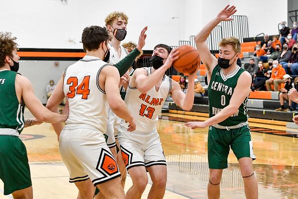 Alma vs Central Montcalm District Basketball 3-25-2021