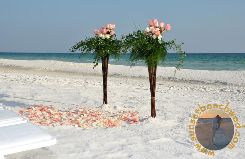 Pink and Cream Rose Arrangements, Pink and Cream Rose Petals