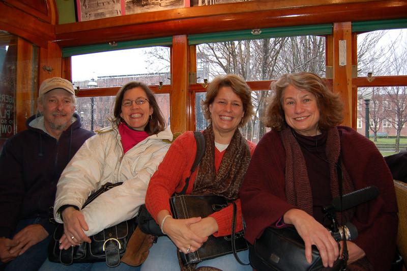 On the trolley Joe, Gigi, Jill, Heidi