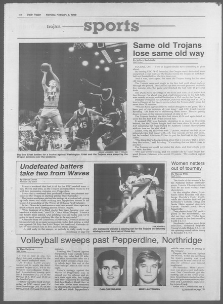 Daily Trojan, Vol. 106, No. 20, February 08, 1988