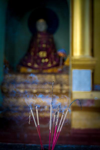 Incense at the Shwedagon (Golden) Pagoda