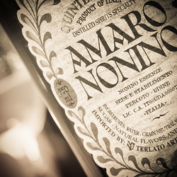 Amaro Nonino Label (detail), photo © 2016 Douglas M. Ford. All rights reserved.
