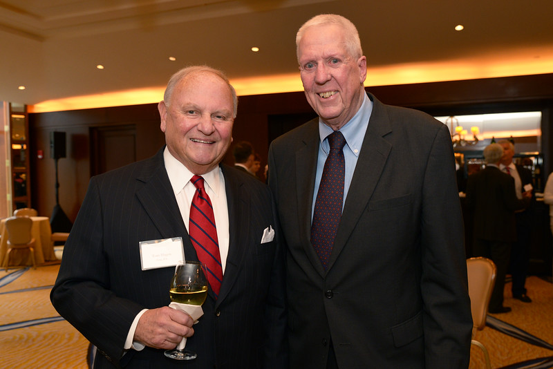 Dinner Benefactor, Life Benefactor, and Councilor Thomas Bailey Hagen of Erie, Penn., with honoree David Hartman.