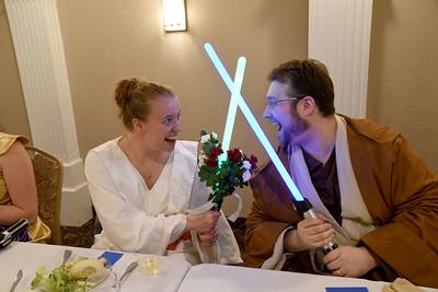 Kayla and Steve at the Mermaid- Star Wars Wedding! :)