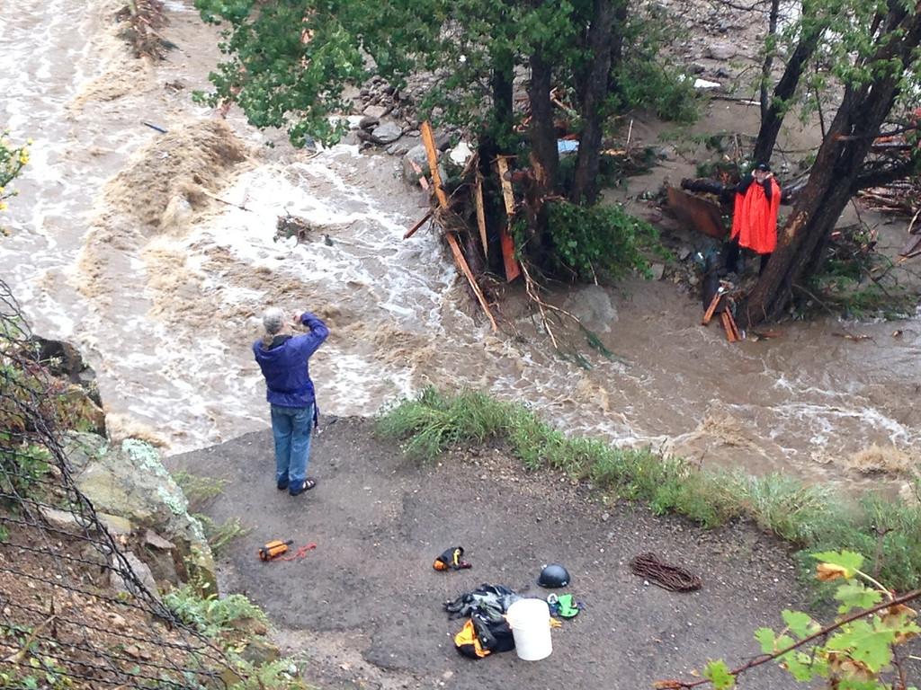 . Flooding in Jamestown. Photo taken by Brandon Jacobs