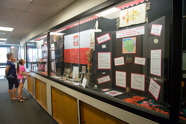09/11/19 Wesley Bunnell | StaffrrThe Polish Genealogical Society has a large display currently on show at the New Britain Public Library.