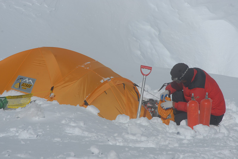 For the continuation of climbing we need supplemental bottled oxygen