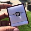 1.19ct Vintage Emerald Cut Diamond Onyx Ring, GIA E VS2 55