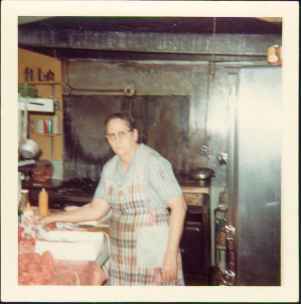 Edna Meyers - cook at Sam's Place restaurant