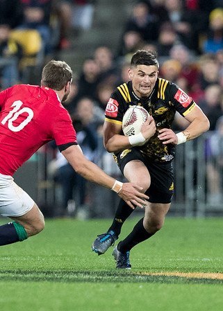 Otere Black during game 8 of the British and Irish Lions 2017 Tour of New Zealand,The match between  Hurricanes and British and Irish Lions, Westpac Stadium, Wellington, Tuesday 27th June 2017 (Photo by Kevin Booth Steve Haag Sports)  Images for social media must have consent from Steve Haag