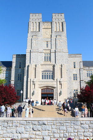 Outside Burruss Hall - Before & After