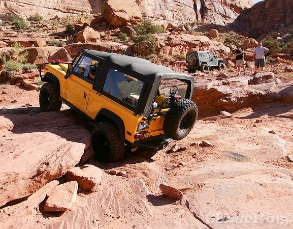 Bob's D-90 hoping up one of the many shelfs along pritchard canyon