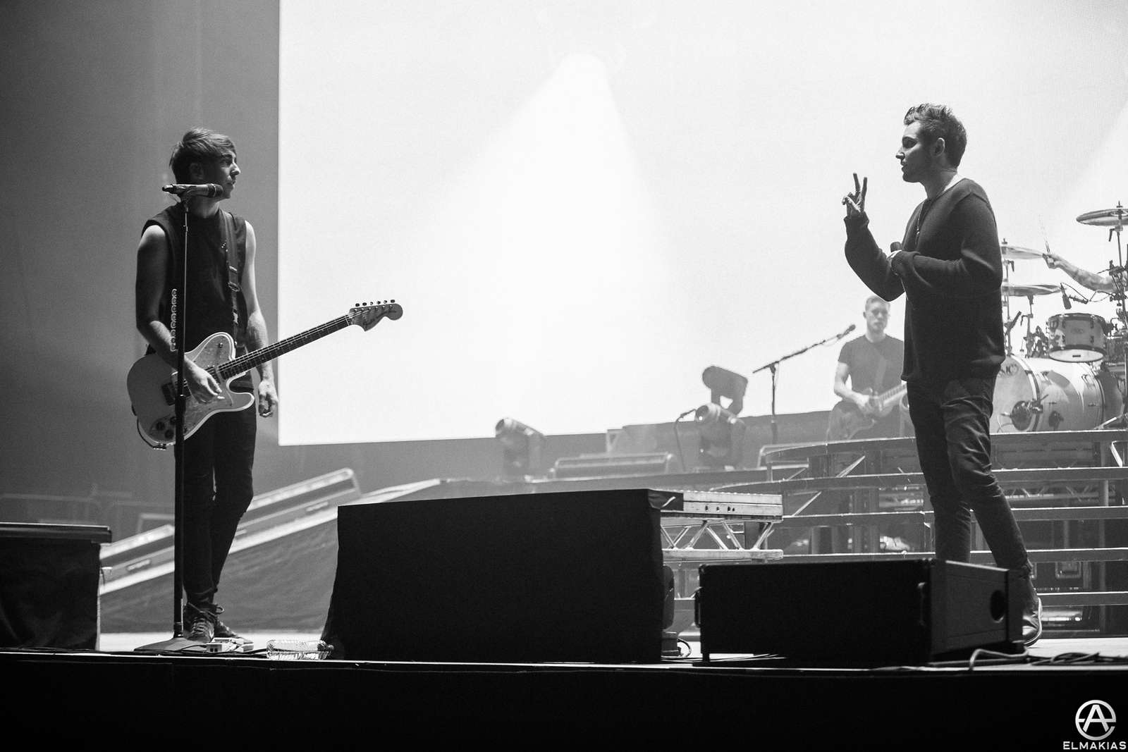 All Time Low rehearsing with You Me At Six at Wembley Arena