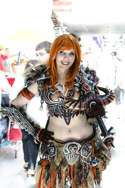 Diablo III cosplay girl @ Gamescom 2012