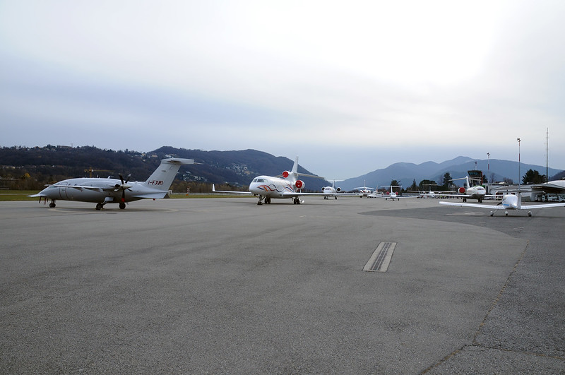 Lugano Airport Overview - 02.12.2017