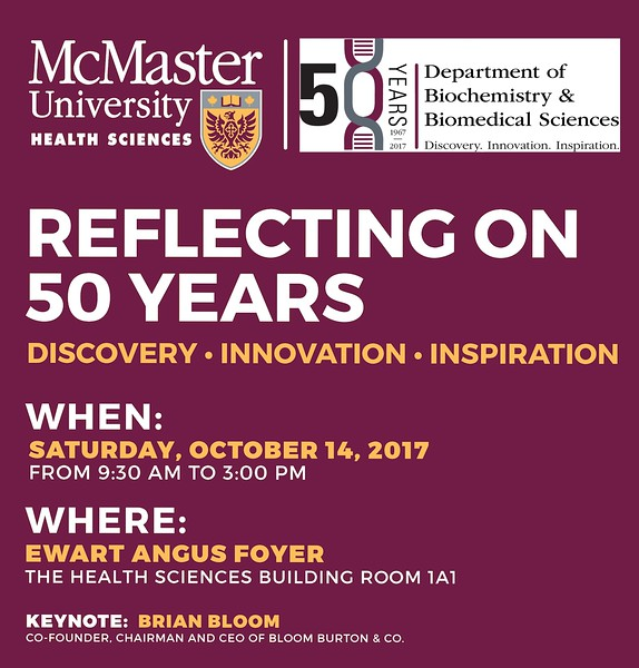 McMaster University BBS 50th Anniversary