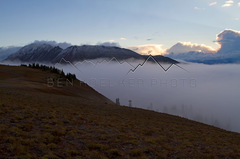Cloud Inversion in the Gore Range, CO.