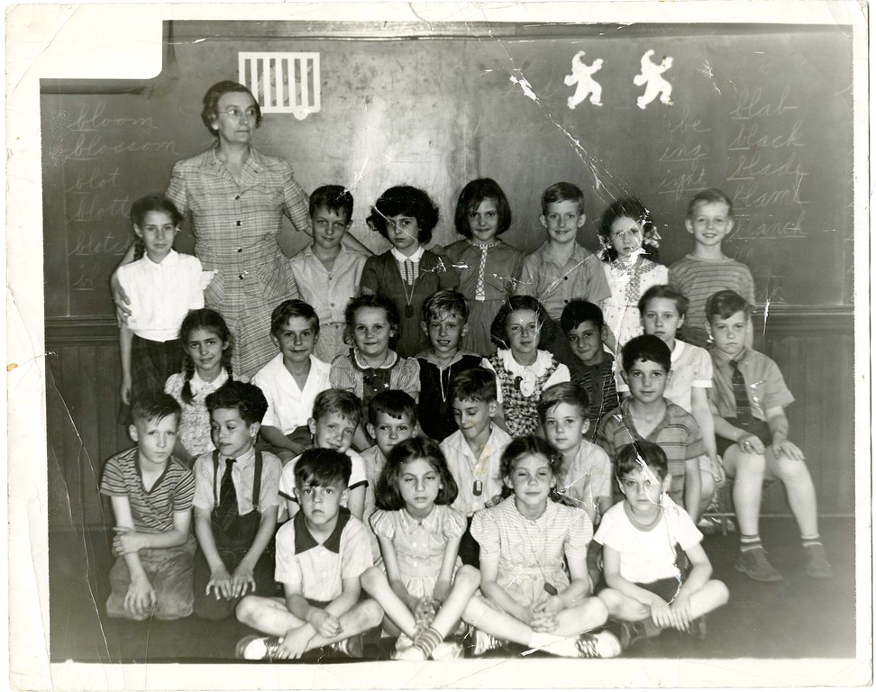 . This photo from the Historical Society of Montgomery County shows a class picture taken at the Harry Street School in Conshohocken in the 1940s. The teacher is Bessie Nace.