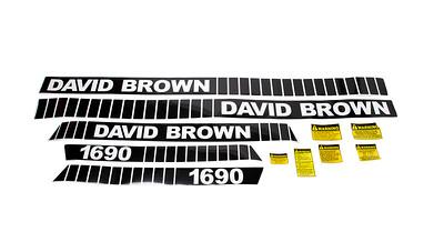 DAVID BROWN 1690 SERIES BONNET DECAL SET