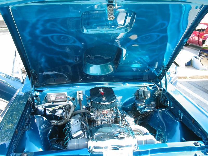 1967 Pontiac GTO (inside hood)