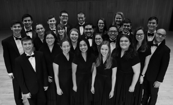 UConn Chamber Singers Publicity photos Spring 2019