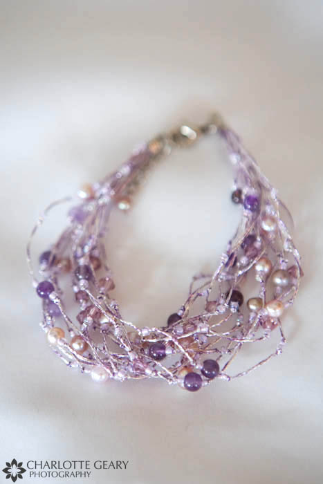 Purple wedding bracelet