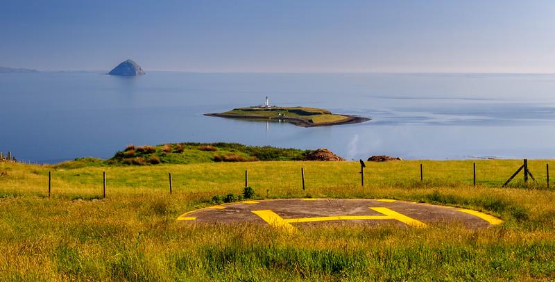 Ailsa Craig and Pladda islands