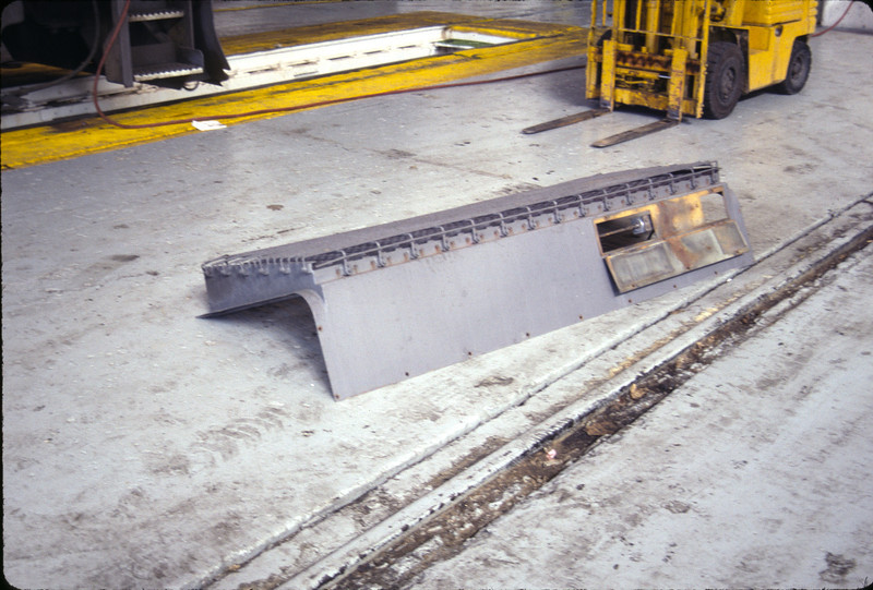 GP15-1 radiator hatch, or at least half of one. September 1993. <i>Don Strack Photo</i>