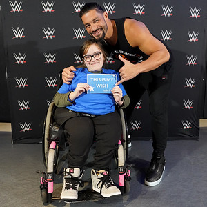 Roman Reigns - meets Faith from MakeAWish