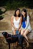 Emily and her Sister, Dog (Family Photography, Lighthouse Field, Dog Beach, Santa Cruz, California) :
