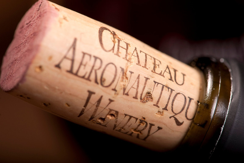 Closeup of a cork at the Chateau Aeronautique Winery in Jackson, MI on May 4, 2013. (Photo by Mark Bialek)