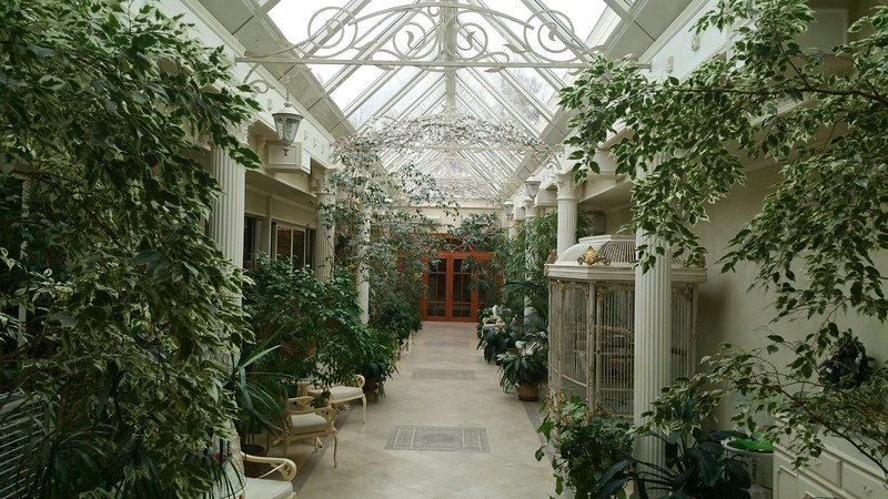 The Atrium..fabulous climate too and so peacefully quiet.