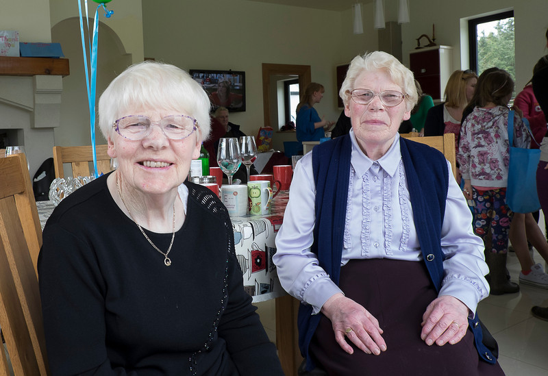 Mae Anne and Margaret Kearns.  They're twins.  They grew up in Ballymote before moving to the family farm, which is still in operation and cared for by their nephew Noel.