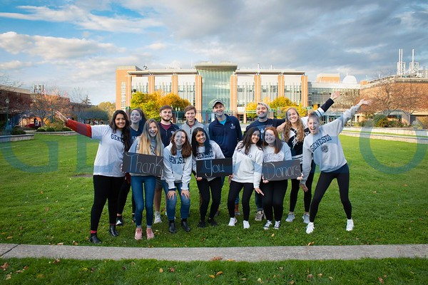 "Phonathon ""Thank You"" Students (Photos by Dominic Florio)"