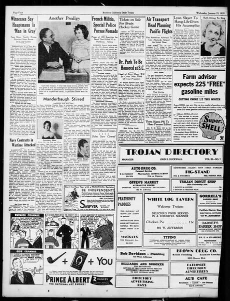 Daily Trojan, Vol. 26, No. 71, January 23, 1935