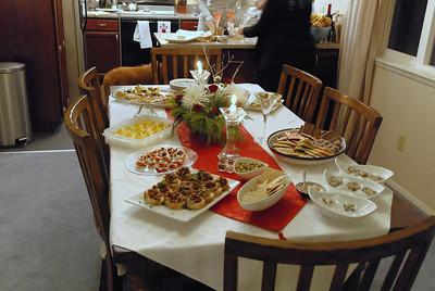 Christmas Eve Dinner with Tony & Sally - December 2010