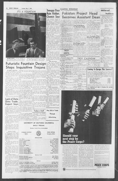 Daily Trojan, Vol. 53, No. 116, May 01, 1962