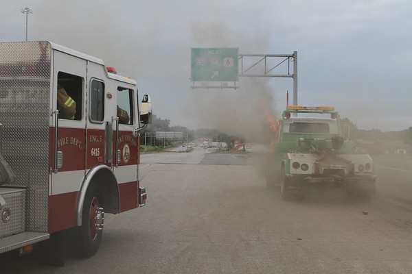 Lake Station Indiana Tow Truck Fire