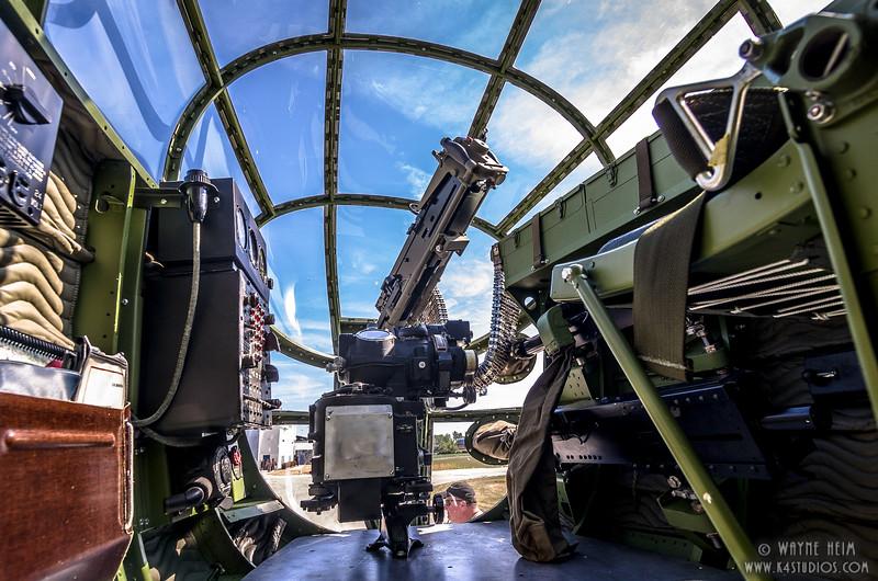 Inside Gun Turret  2  Photography by Wayne Heim
