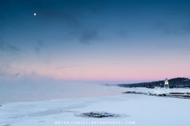 Moon Above Grand Marais