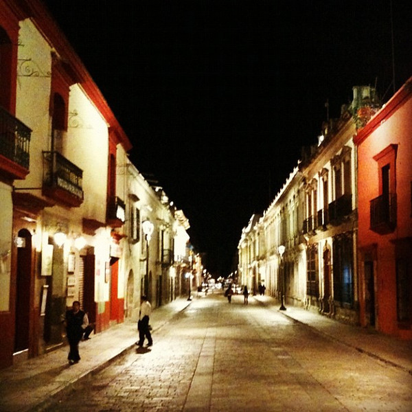Peaceful walk through #oaxaca at night. #mexico