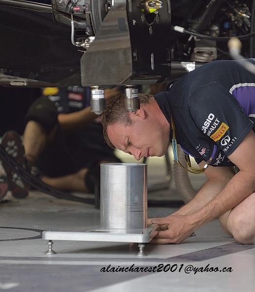 Red Bull garage team member