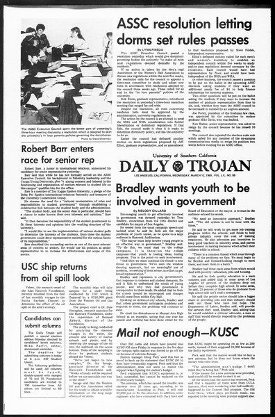 Daily Trojan, Vol. 60, No. 88, March 12, 1969