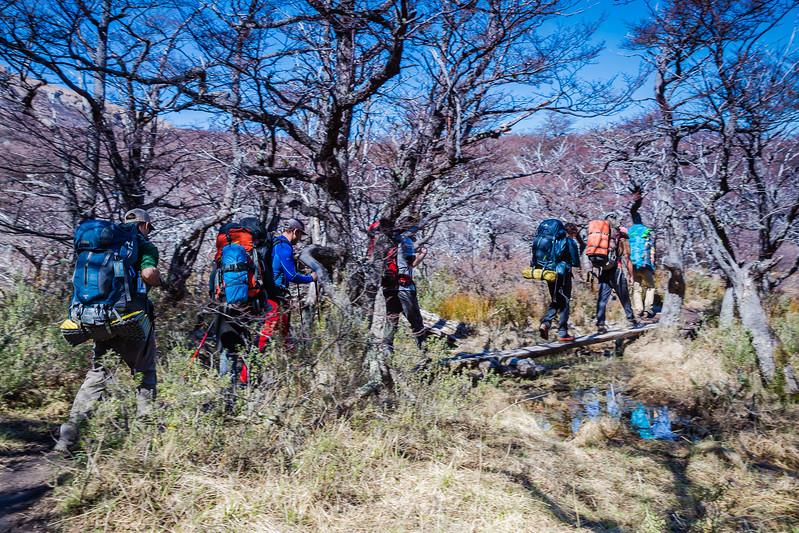 Hiking in Patagonia Pilar Mount Fitz Roy