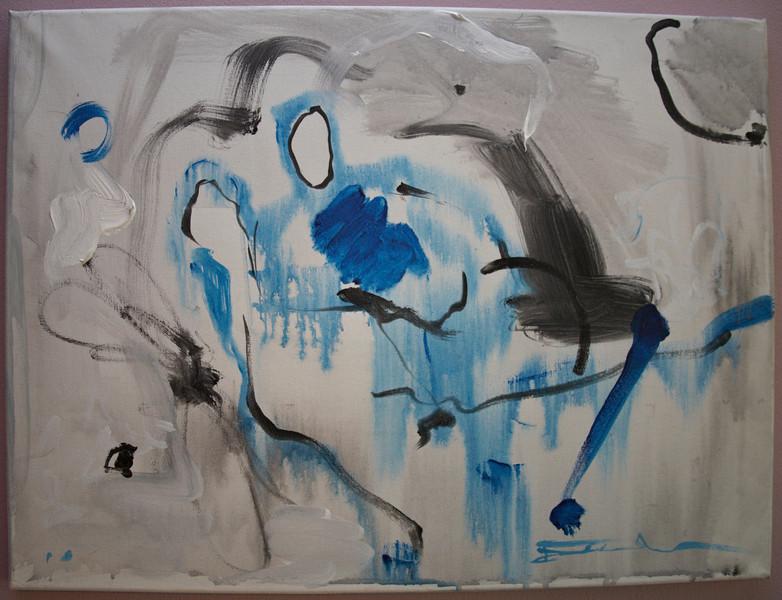 """2010, 18"""" x 24"""". Pas De Deux, Acrylic on canvas."""
