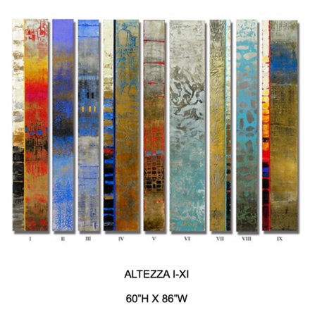 Altezza I-XI by Hollack, painting on wood