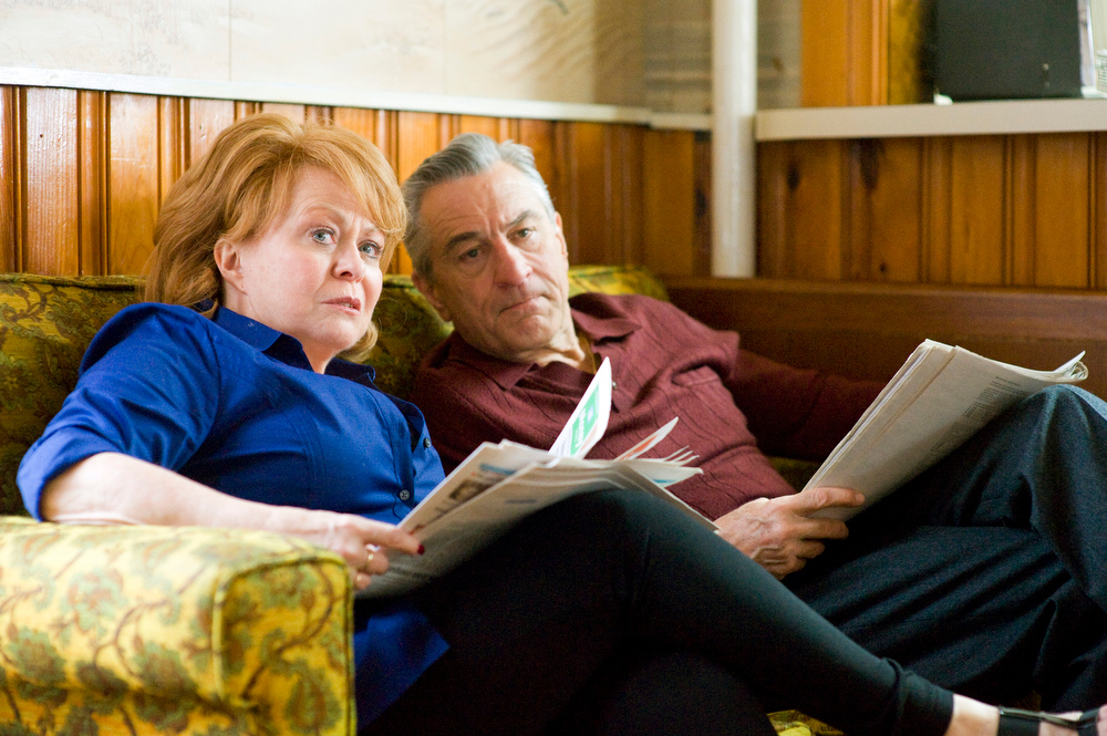 Description of . This publicity film image released by The Weinstein Company shows Jacki Weaver, left, and Robert De Niro in