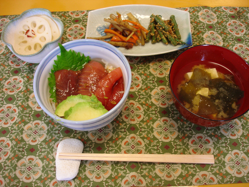 Japanese Cooking Class October 7, 2010: Maguro Don Lunch Set