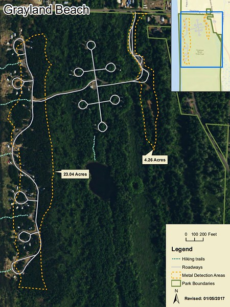 Grayland Beach State Park (Metal Detection Areas)