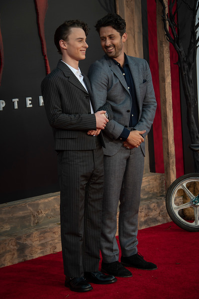 "WESTWOOD, CA - AUGUST 26: Wyatt Oleff and Andy Bean attend the Premiere Of Warner Bros. Pictures' ""It Chapter Two"" at Regency Village Theatre on Monday, August 26, 2019 in Westwood, California. (Photo by Tom Sorensen/Moovieboy Pictures)"